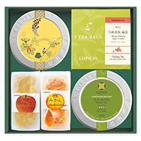【弔事用ギフト】人気のお茶とお茶請けの詰め合わせ 「金盞花(きんせんか)」