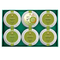 (弔事用ギフト)特選 日本茶6種詰め合わせ 「古典菊」