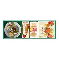 お茶2種とお菓子「豊(ゆたか)の秋」