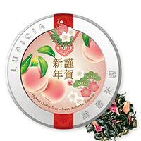 白桃烏龍 極品30g福桃ラベル缶入