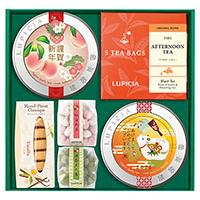 お茶3種とお菓子「福果(ふくか)」