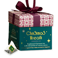 クリスマスリースティーバッグ5個限定デザインBOX入