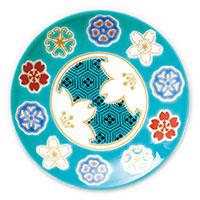 オリジナル 豆皿 桜紋亀甲(きっこう)