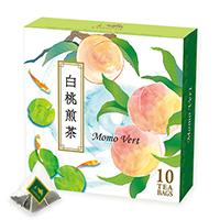 白桃煎茶ティーバッグ10個デザインBOX入