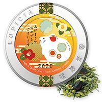 抹茶黒豆玄米茶50g干支飾りラベル缶入