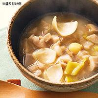 ゆり根と蓮根、ポロネギのスープ