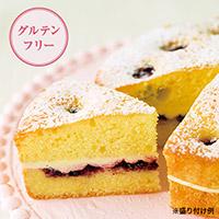 酒粕と余市ブルーベリーの米粉ケーキ