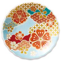 オリジナル 豆皿 桜雲文