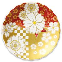 オリジナル 豆皿 桜小紋市松
