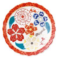 オリジナル 豆皿 桜更紗(さくらさらさ)