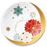 オリジナル 豆皿 雪月花 桜(せつげつか さくら)