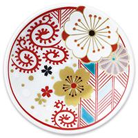 オリジナル 豆皿 桜唐草(さくらからくさ)