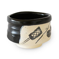 ミニ抹茶碗 黒織部