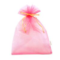 オーガンジー巾着袋 ピンク