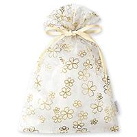 オーガンジー巾着袋 サクラ(クリーム)
