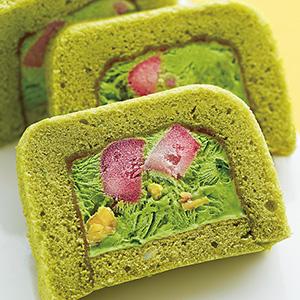 苺とナッツの抹茶ヌガーグラッセ風×焙煎豆々茶